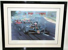 Mario Andretti 1978 Formula 1 Champion Nicholas Watts Print #1/500 F1 Framed Art