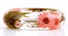 Handmade Real flower Botanical jewellery resin bangle bracelet.{12}g