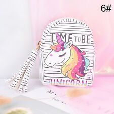 unicorn coin purse pouch mini backpack bag pu leather keychain pouch wallets NWK