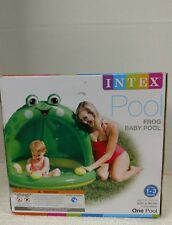 "Intex Pool Frog Baby Inflatable Baby Pool, 40"" × 36 1/2"", for Ages 1-3"