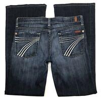 7 for All Mankind Dojo Jeans Womens Size 28 Designer Stretch Denim