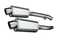"Yamaha FJR1300 Delkevic Slip On 9"" Stainless Steel Oval Muffler Exhaust 01-05"
