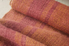 Antique dyed hemp Table Stair runner Natural hand woven 3.58 yards old textile