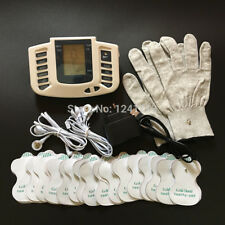 16 Pads with Gloves Electro Therapy Stimulator Tens Acupuncture Therapy Massager