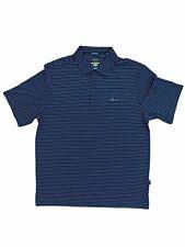 Greg Norman for Tasso Lg Polo Short Black White Stripe Golf Apparel