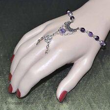 Luna Amethyst Pagan Bracelet Ring - Pagan Jewellery, Wicca, Witch, Gemstone