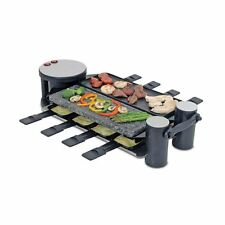 Swissmar Swivel Raclette Cast Alum & Stone Grill Top 8 Person Black-KF-77073 NEW