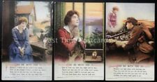 WW1 GOD BE WITH YOU Bamforth Song Cards set of 3 No 5025/1/2/3