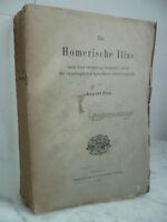 Die Homeri Ilias August Pendente Dub Göttingen Van Verlag 1886