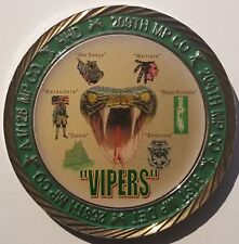 US Army HHD 519th Military Police Battalion Presented For Excellence Vipers
