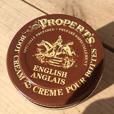 NEW Propert's English Boot Cream GIANT 3.7 Oz Glass Bottle by KIWI Shoe Polish