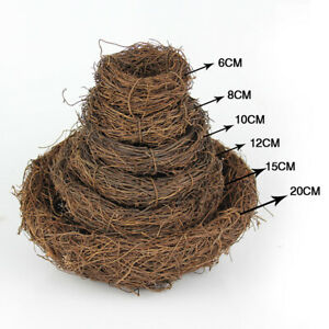 Bird Nest Natural Rattan Woven Parrot Pigeon Swallow House Cage Home Ornament