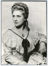 France, Marisa Ferrer, soprano  Vintage . Photo Harcourt  Tirage argentique