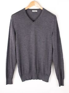 J.LINDEBERG Men Casual Merino Wool Knit Sweater Jumper Size M BCZ483