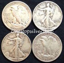 $2 Face Value ~ 90% Silver ~ Walking Liberty Half Dollars ~ 4 Coins