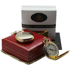 ELVIS PRESLEY Signed Pocket Watch 24k Gold Plated Collectors Luxury Gift Case