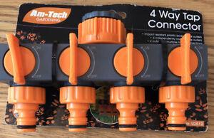 Brand New Am-Tech 4 Way Tap Connector U2512. Free P&P.