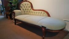 Louis french style mahogany chaise couch lounge
