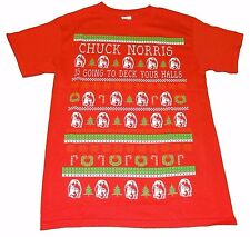 Chuck Norris is Going to Deck Your Halls Christmas T-Shirt - Men's S - New +Tags
