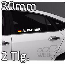 30mm Motorsport Racing Wunschname DTM Flagge Aufkleber Sticker Emblem Rallye