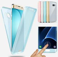 For Samsung Galaxy J4 J5 J6 J7 J8+ 360°Full Body Case Silicone Bumper Gel Cover