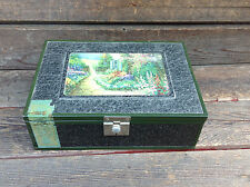 Very Nice Metal Encased Cigar Box with Tax Stamp Remnants