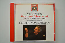 Meditation Ouvertures Overtures Intermezzi - Mutter, von Karajan  EMI CD no ifpi