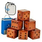 Giant Wooden Yard Dice Set, Large Pine Wooden Dice Lawn Game Set with
