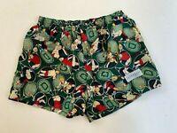 DAVENPORT vintage green tennis silky satin boxer shorts size M made in Australia
