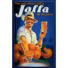 Jaffa Orange COCKTAIL Tiki Bar Drink Mixer Küche M 3D Metall geprägtes Schild