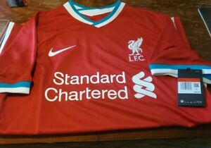 Nike Liverpool FC 20/21 Stadium Home Red Jersey Men's Large CZ2636-687 NWT