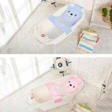 Baby Bath Seat Net Bathtub Sling Shower Mesh Anti-Slip Infant Bathing Cradle_GG