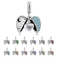 Angel Wing Cremation Jewelry Urn Ashes Necklace Heart Keepsake Memorial Pendant-