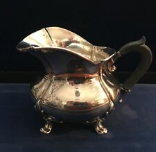 FRANCE Antique Martial Fray .950 Sterling Silver Creamer Pitcher w/ Ebony Handle
