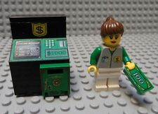 LEGO Minifig Decorated Delux ATM Bank Money Machine Cash Safe Female  Banker