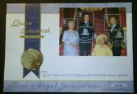 GB 2000 Queen Mother 100th Birthday PNC Cover £5 Coin Brilliant Uncirculated BU