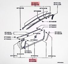 Genuine OEM Right UPPER Door Weatherstrip Seal 3000GT #67437R in Diagram