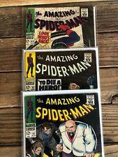 Amazing Spiderman comic books (lot of 7) #'s 51,52,53,55,56,57,58