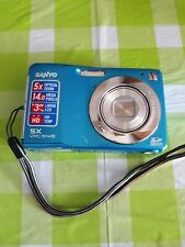 Sanyo VPC-S1415 Touchscreen 14.0MP Digital Camera-Blue-For Parts of it working