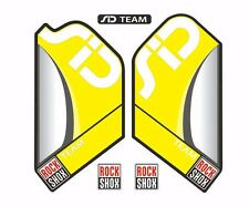 Rock Shox SID Team Mountain Bike Cycling Factory Style Decal Kit Sticker Yellow