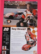 LOT of 6 TONY STEWART NASCAR PHOTOs 2004 HOME DEPOT DOUBLE SIDED