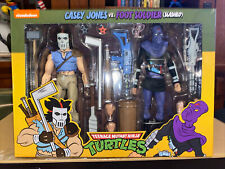 NECA TMNT Casey Jones vs Foot Soldier (Slashed) 2-Pack Exclusive - MISB