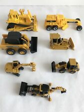 Lot of 7 Collection Yellow Work Heavy Toy Machines Different Sizes