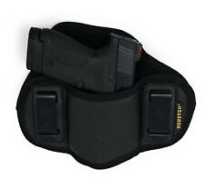 IWB Dual Clip Pancake Gun Holster - M&P Shield 9mm Concealed Carry Soft Holster