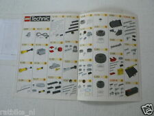 LEGO BROCHURE FLYER CATALOG TOYS 1996 PARTS SERVICE  DUTCH 6 PAGES 153