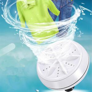 USB Mini Washing Machine Portable Ultrasonic Turbine Laundry Washer Travel Home