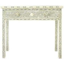 Handmade Bone Inlay Grey Console Table