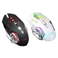Q13 2.4GHz Wireless 2400DPI Mouse Rechargeable Silent Backlight Game Mouse C#P5