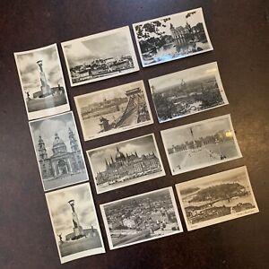 Bulk Lot Of 10 Vintage Postcards From Budapest Hungary Black & White 1950s