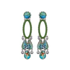 "BRAND NEW AYALA BAR Large ""Sweet Leaf""  Earrings (Radiance Collection)"